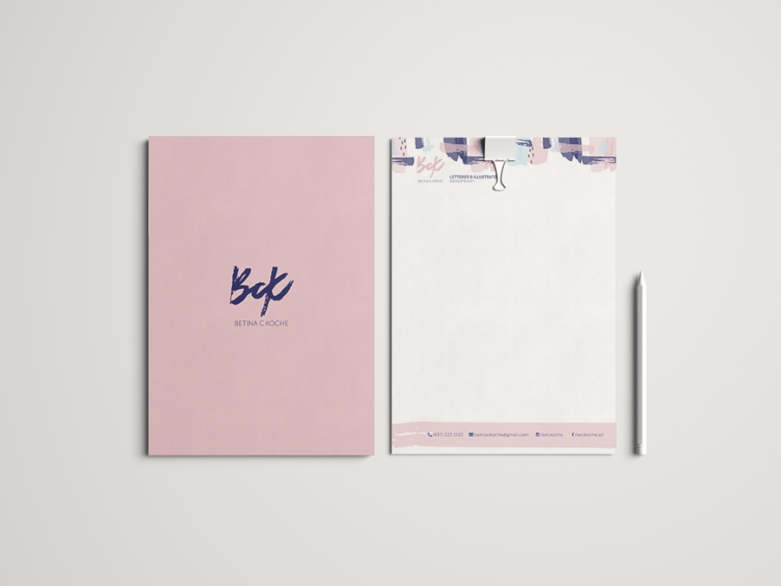 Folder and letterhead